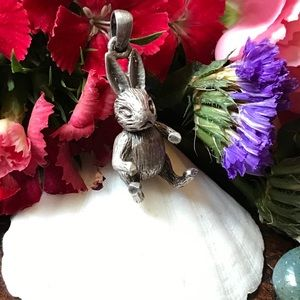 Articulated Sterling Silver Bunny Pendant